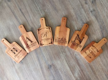 Personalized Handled Serving Boards! 6 Amazing Designs!