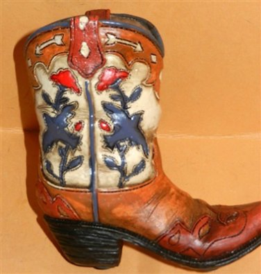Western Resin Collectible Cowboy Boot