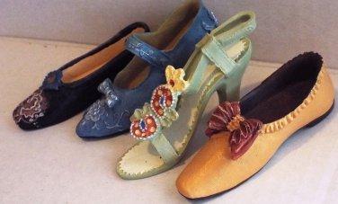 """Lot of 4 Resin Fun Shoe Ganz Shoes Shoe 3.25"""" Shoes Lot 4 Collectible Mini"""