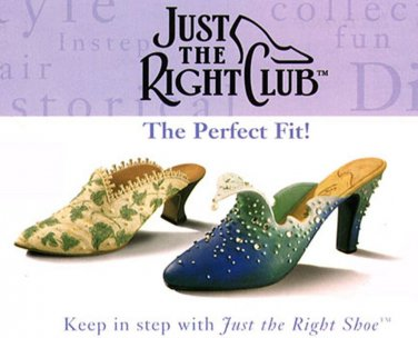 """3 Shoes Just the Right Shoe Collectible 3"""" Shoes 2-Touch of Lace & 1 Wave Shoe"""