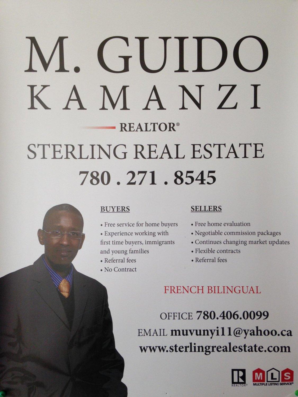 M. Guido Kamanzi - Realtor - Edmonton, Alberta Canada