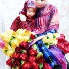 VINTAGE ROYAL DOULTON 1342 FLOWER SELLERS CHILDREN