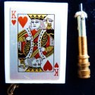 KING OF HEARTS MATCH STRIKER POKER TEXAS HOLDEM KING OF HEARTS CIGARETTE LIGHER