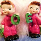 NAPCO SALT PEPPER VINTAGE CHRISTMAS SALT PEPPER VINTAGE PIXIE NAPCO