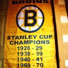 MILT SCHMIDT STANLEY CUP BOSTON BRUINS BANNER WOODY DUMART 5PC LOT