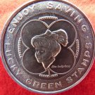 VINTAGE LUCKY COIN GREEN STAMP TOKEN BARBIE INTEREST