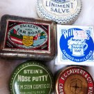 VINTAGE TIN ADVERTISING COSMETIC TINS 5XXXXX
