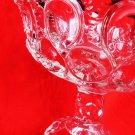 EAPG GLASS COMPOTE AMERICAN FLINT GLASS SALVER BULLSEYE GLASS
