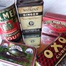 VINTAGE FOOD TIN ADVERTISING TIN CHOCOLATE TIN SARDINE OXO TIN 5PC AYLMER SOUP