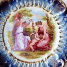 AUSTRIA VIENNA PLATE ANGELICA KAUFFMAN PLATE RETICULATED VICTORIAN CHERUB