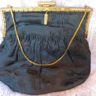 VICTORIAN PURSE SEED PEARL MOURNING PURSE JET BLACK EMBROIDERY