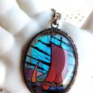 BUTTERFLY WING JEWELRY STERLING MORPHO BUTTERFLY CHINESE JUNK BOAT JAPANESE