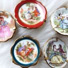 VINTAGE LIMOGE MINIATURE PLATE LOVE STORY 5 PIECES