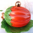 VINTAGE CONDIMENT TUREEN SPOON SERVER SQUASH