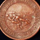 VINTAGE BRONZE SWIMMING MEDAL 1929 LIFE SAVING RLSS ROYAL