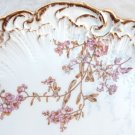 VINTAGE LIMOGE FRANCE PLATE ASIAN APPLE BLOSSOM SHOWCASE CHARGER