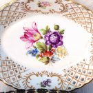 VINTAGE HEREND DISH RETICULATED BOUQUET DE TULPE DISH