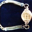 VINTAGE ELGIN WRISTWATCH 14KT WHITE GOLD LADIES DIAMOND WRISTWATCH