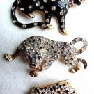 JAGUAR BROOCH TIGER LEOPARD PANTHER BROOCH