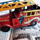 VINTAGE MARX FIRE TRUCK MARX TIN TOY RED FIRE ENGINE
