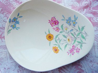 CLARICE CLIFF BERRY BOWL SERVER ROYAL STAFFORDSHIRE PINK SUSAN