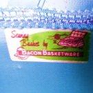 VINTAGE SEWING BASKET CZECH BASKET WARE SEWING CASKET