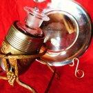VINTAGE PERFUME BOTTLE SILVER BARREL GRAPE CASKET