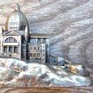 VINTAGE ARCHITECT PAPER WEIGHT CANADA RELIGIOUS SOUVENIR
