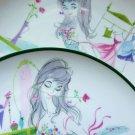 VINTAGE BALLERINA PLATE SIGNED ARTIST BOUDOIR PLATES SHABBY CHIC INTEREST