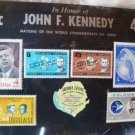 JOHN F KENNEDY STAMPS PROOF COMMEMORATIVE SIERRA LEONE