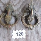 VICTORIAN DRAWER PULL ORNATE BRASS ANTIQUE FEDERAL CABINET PULL