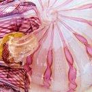 MURANO GLASS TOSO ZANFIRICO LATICCINO 2X BON BON DISH
