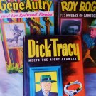 VINTAGE BOOKS DICK TRACEY GENE AUTRY ROY ROGERS 3PC