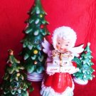 NAPCO JAPAN ANGEL CHRISTMAS SIGNED GEO Z LEFTON CHRISTMAS TREE SALT PEPPER 4PC