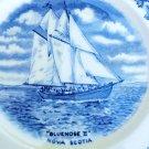BLUENOSE II PLATE SAIL SHIP SOUVENIR