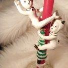VINTAGE CHRISTMAS JAPAN DEVIL PIXIE CANDLE HOLDERS 2PCS XMAS DECORATION