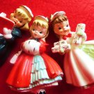 VINTAGE CHRISTMAS JAPAN FIGURINES CHRISTMAS CAROLERS 3XXX NAPCO INTEREST