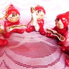 ANTIQUE CHRISTMAS ANGELS PIXIE 5PC JAPAN NAPCO INTEREST VINTAGE CHRISTMAS DECOR