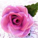 VINTAGE HEREND ROSE PINK ROSE PLACE CARD HOLDER