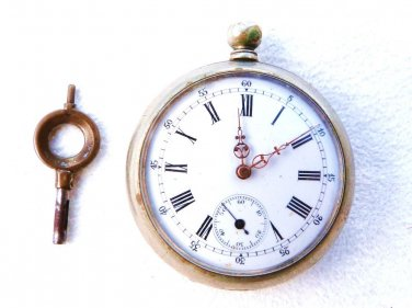 VINTAGE POCKET WATCH DOUBLE CASE KEY WIND RUBIS CYLINDRE FRENCH