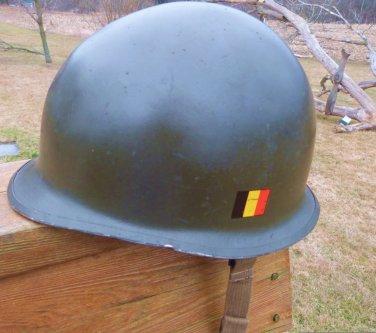 WWII POSTWAR US HELMET BELGIUM
