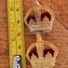 KINGS CROWN RANK PIN BADGE
