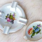 VINTAGE HEREND DISH BOUQUET DE FRUITS HEREND LIECHTENSTEIN GARLAND ROSE ASHTRAY