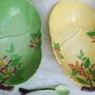 VINTAGE CARLTON WARE APPLE BLOSSOM BOWL SPOON 3 PIECE LOT
