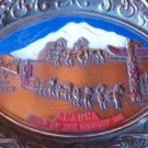 VINTAGE CARD TRAY ALASKA DOG SLED 49TH STATE 1912