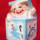 VINTAGE CLOWN PLANTER HEAD VASE BRODY JACK IN THE BOX BABY NURSERY