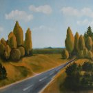 Canvas Oil Painting landscape road highway