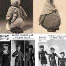 4 x Vintage Knitting Patterns on CD – Peter Rabbit, Jemima Duck, WW2, Beatrix Potter