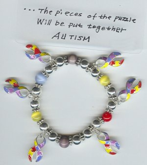 Autism Charm Bracelets~~~~ FREE SHIPPING!!!!!!
