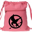 Hunger Games Backpack Pink Canvas Drawstring